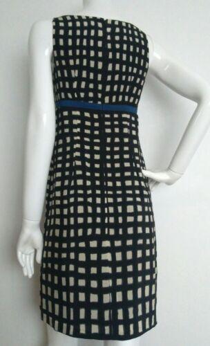 Silk vgc Size Dress Knee Ivory 100 Length 8 Toast Black TqdHd