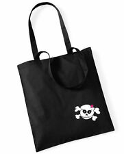 LITTLE RACKY SKULL Cotton Bag Stoffbeutel schwarz