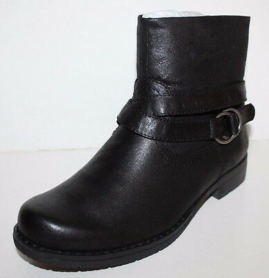 GH Bass NIB Women 6 7 Zabrina Black Ankle Boots w/ O-Ring & Strap