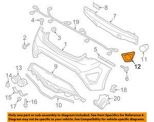 HYUNDAI-OEM-13-17-Veloster-Rear-Bumper-Reflector-Bezel-Left-866232V500
