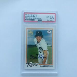 MARK-FIDRYCH-TIGERS-HAND-SIGNED-CARD-PSA-DNA-AUTO-2003-TOPPS-FAN-FAVS