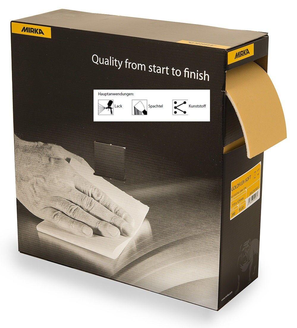 barato en línea Mirka oroflex-Soft 115 x 125 125 125 mm schleifpads ungelocht - 200 pads K 220  Venta al por mayor barato y de alta calidad.