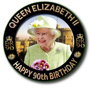 "90th BIRTHDAY QUEEN ELIZABETH II~ SOUVENIR OF THE DAY 2.2""/55 mm FRIDGE MAGNET"