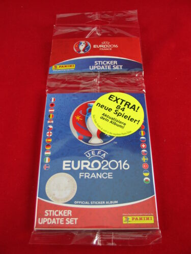 PANINI EURO 2016 SET COMPLETO 84 Update sticker album SOFT COVER em 16