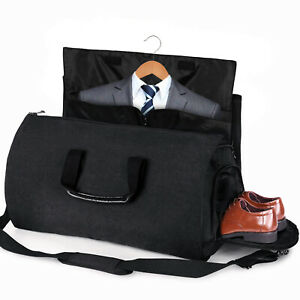 Black-Business-Men-Convertible-Garment-Suit-Storage-Travel-Protector-Carrier-Bag