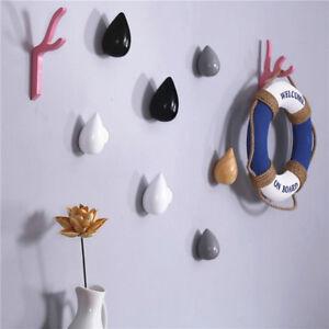 1-Pcs-Wood-Wall-Hanger-Chic-Water-Drop-Bathroom-Door-Coat-Hat-Single-Hook-Holder