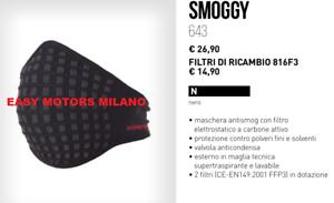 più alla moda offerte esclusive nuovi prodotti caldi Dettagli su MASCHERA ANTI SMOG INQUINAMENTO + FILTRO TUCANO 643 SMOGGY  CASCO MOTO SCOOTER