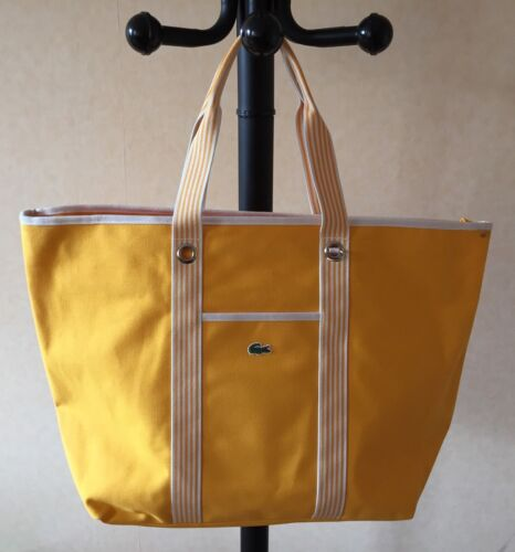DESTOCKAGE NEUF DE STOCK SAC ETE LACOSTE MODELE SHOPPING BAG COULEUR JAUNE NEUF