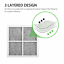 4-Pack Replacement Refrigerator Air Filter for LG LT120F Kenmore Elite 469918