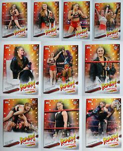 2019-Topps-WWE-Smackdown-Ronda-Rousey-Spotlight-Wrestling-Cards-U-Pick-31-40