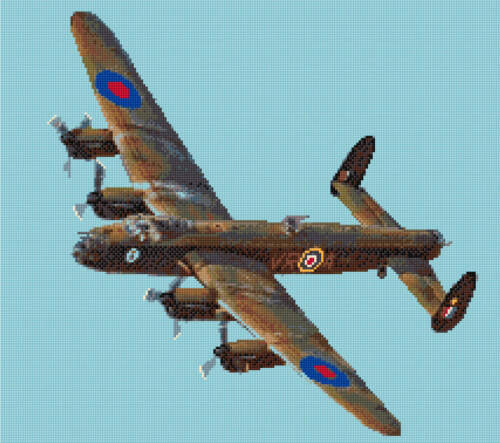 Lancaster Bomber Plane Counted Cross Stitch Kit 18ct War//Transport//Aeroplane