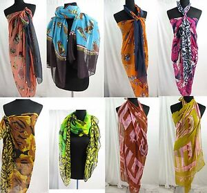 *US SELLER*lot of 5 Wholesale Discount Scarves beach sarong pareo shawl wrap
