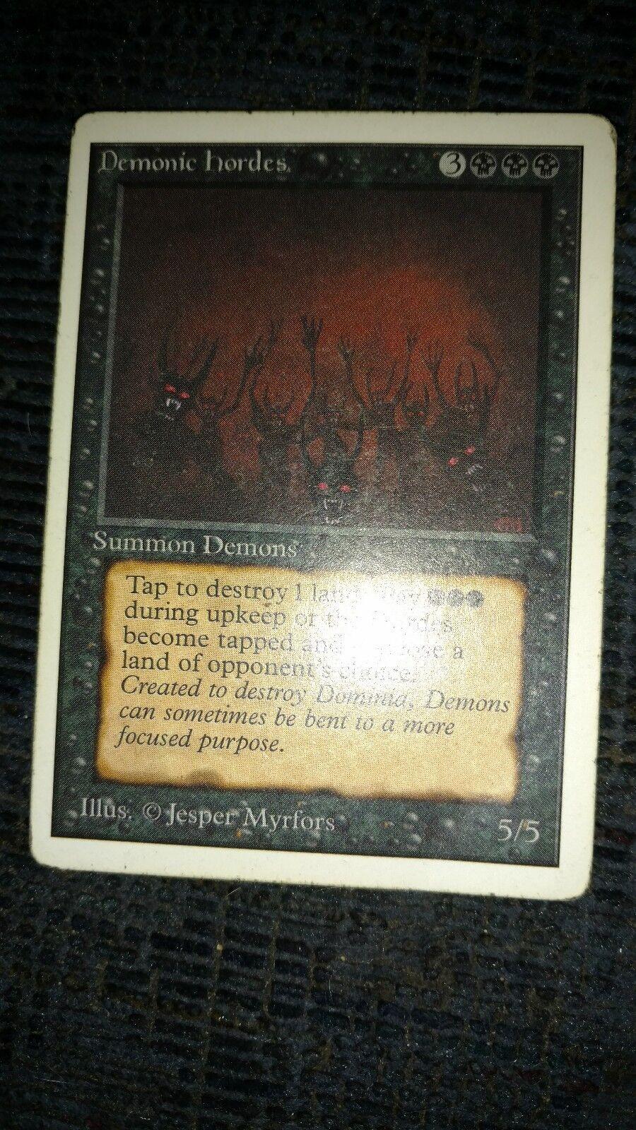 MTG, Demonic Hordes, Unlimited, MP, Magic the Gathering