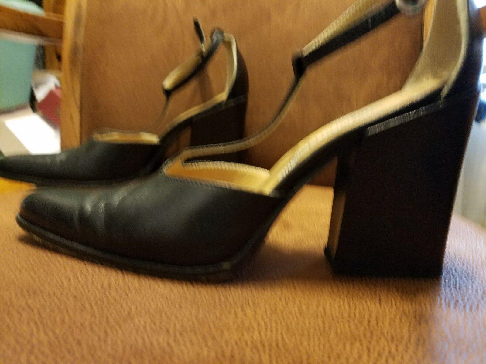 Umbertо Mancini Mancini Mancini All genuine leather schwarz heels pointy nose schuhe 8 38.5 d8c655