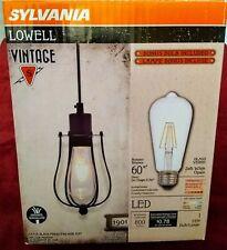 Sylvania Lowell Vintage Black 4 Inch Cage LED Pendant Dining Room Light