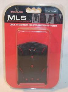 Safariland 6004-17-2 MLS 17 MOLLE Receiver Plate with Guard Black