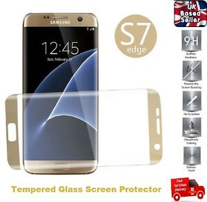 100% GENUINE 3D Curved Tempered Glass Screen Protector for Samsung S7 Edge GOLD