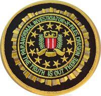 X-files Tv Series Paranormal Investigator Logo Patch 3 1/2 Round