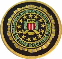 X-files Tv Series Paranormal Investigator Logo Patch 3 1/2 Round