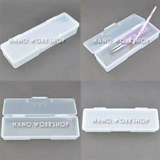 1Pc Case / Box / Holder 4 Nail Art Brushes Storage Container Clear NEW #752D