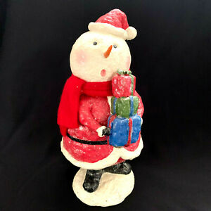 Vintage Glitter Snowman With Presents Wooll Scarf