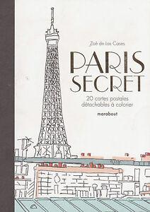 Art Therapie Paris Secret 20 Cartes Postales A Detacher Anti-stress