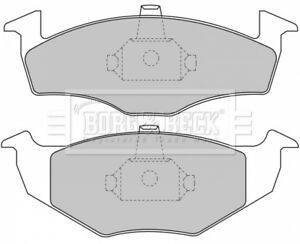 Brake Pads Set BBP1471 Borg /& Beck 6N0698151 6N0698151C Top Quality Replacement
