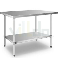 Stainless Steel 24 X 48 Commercial Prep Work Table Nsf Food Restaurant Table