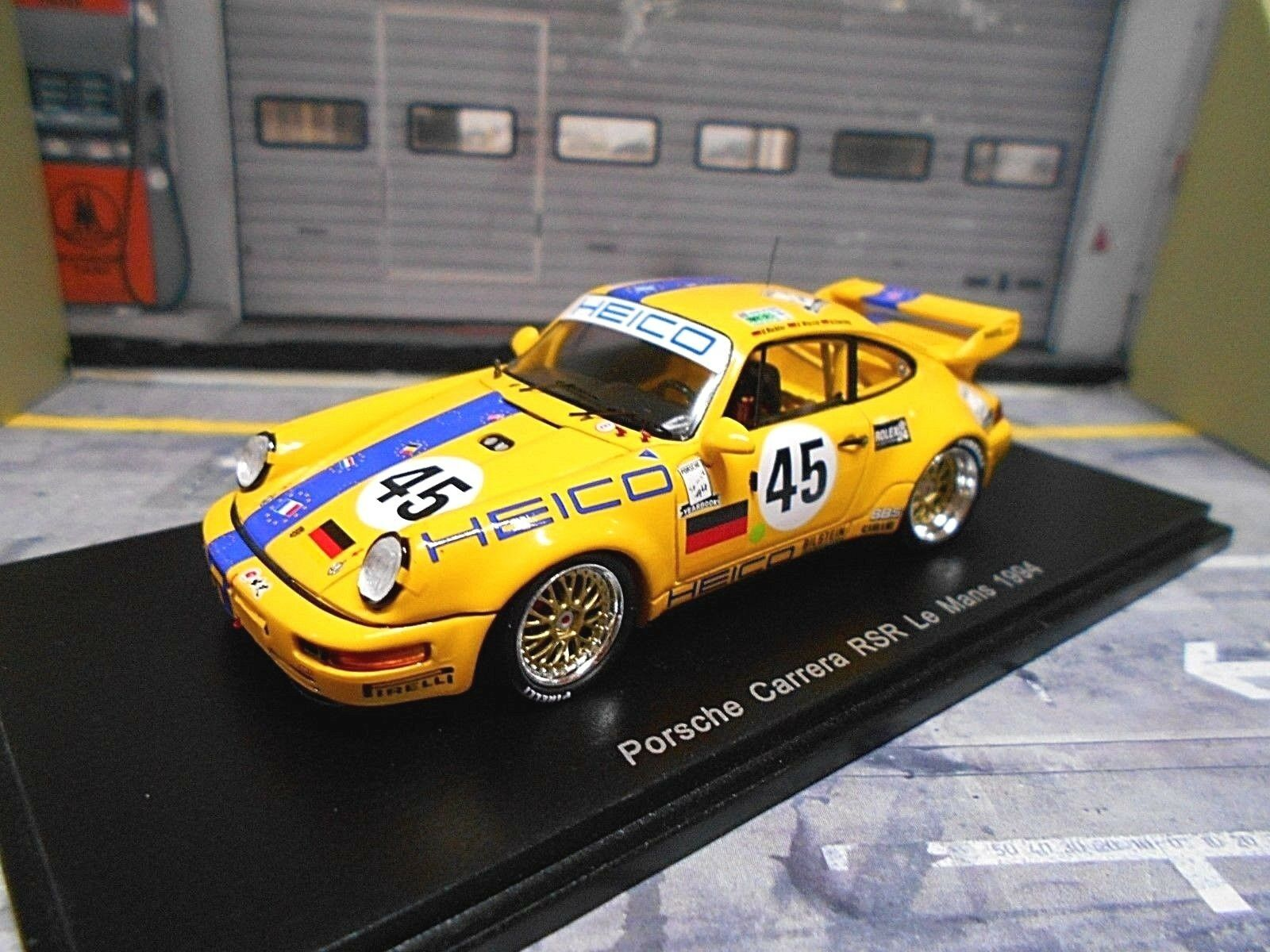 Porsche 911 964 Carrera RSR  45 le Mans 1994 Heico juge Ebeling WL Spark 1 43