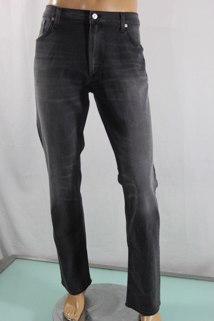Neu Bürger Menschheit Herren Bowery Schmal Standard Jeanshose Größe 38 Schwarz