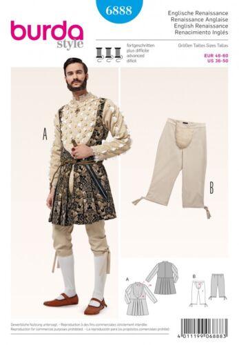 Burda para Hombre Patrón De Costura 6888 soldado Histórico Disfraz Elaborado Vestido Burda -...