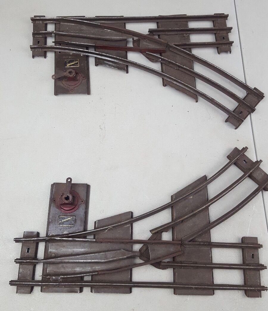 American Flyer steard Scala uomoometro SINISTRO E DESTRO Interruttore uomouale COPPIA TRACK