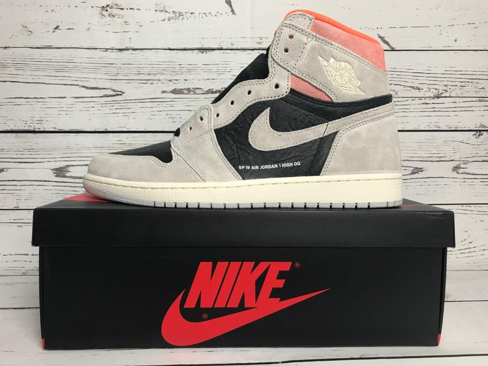 NIB Air Jordan 1 Retro High OG  Neutral grau 555088-018 Größe 13 w receipt
