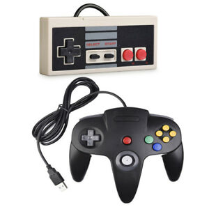 Gamepads New Usb Gaming Controller Plug-play Plastic Black+gray For Nes Pc Windows New