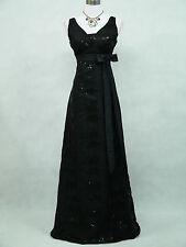 Vestido de dama de honor vestido de fiesta Cherlone Plus tamaño negro boda Noche formal 20
