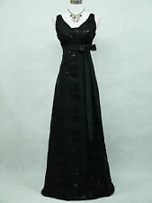 Cherlone Black Ballgown Wedding Evening Bridesmaid Formal Full Length Dress 16