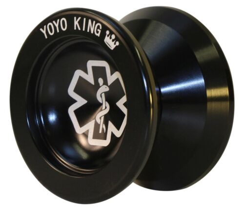 Smalls 3//4 Sized Metal Yoyo with Narrow Responsive and Wide Yoyo King Black Dr