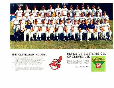 1983 CLEVELAND INDIANS TEAM 8x10 PHOTO VINTAGE BASEBALL OHIO MLB USA