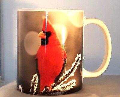 Cardinal In Pine Tree Winter Coffee Mug Cup Image Wraps All Around Ebay