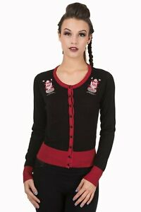 Women/'s Black Bats Gothic Psychobilly Punk Rockabilly Cardigan By Banned Apparel
