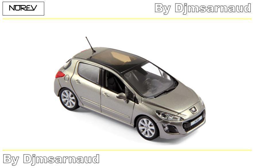 Peugeot 308 de 2011 Vapor gris NOREV - NO 473807 - Echelle 1 43