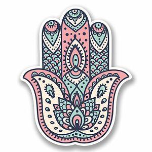 2 x 10cm hamsa hand vinyl decal sticker religion lotus flower image is loading 2 x 10cm hamsa hand vinyl decal sticker mightylinksfo