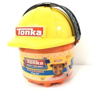 Tonka-Mighty-Builders-25-Piece-Hard-Hat-Bucket-Play-Set-Tonka-Blocks-NEW