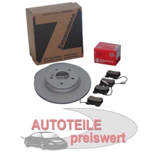 plaquettes De Freins Devant Audi 80 b4 Zimmermann Disques de frein 280mm