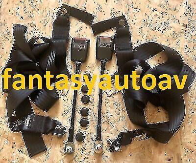 OMOLOGATE Coppia cinture di sicurezza nere statiche  per Fiat 500 F//L//R