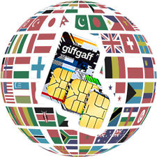 GiffGaff O2 3in1 * Standard, Micro, Nano SIM * Free £5 Credit Free UK Postage !