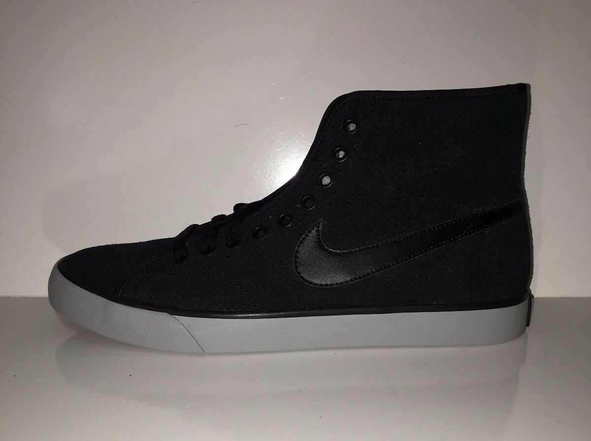 NEW Nike Primo Court Winter Women's Mid-Top Black Sneakers shoes sz 8.5