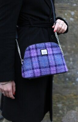 Ladies Harris Tweed Small Shoulder Bag Light Multi Check LB1120 COL 46