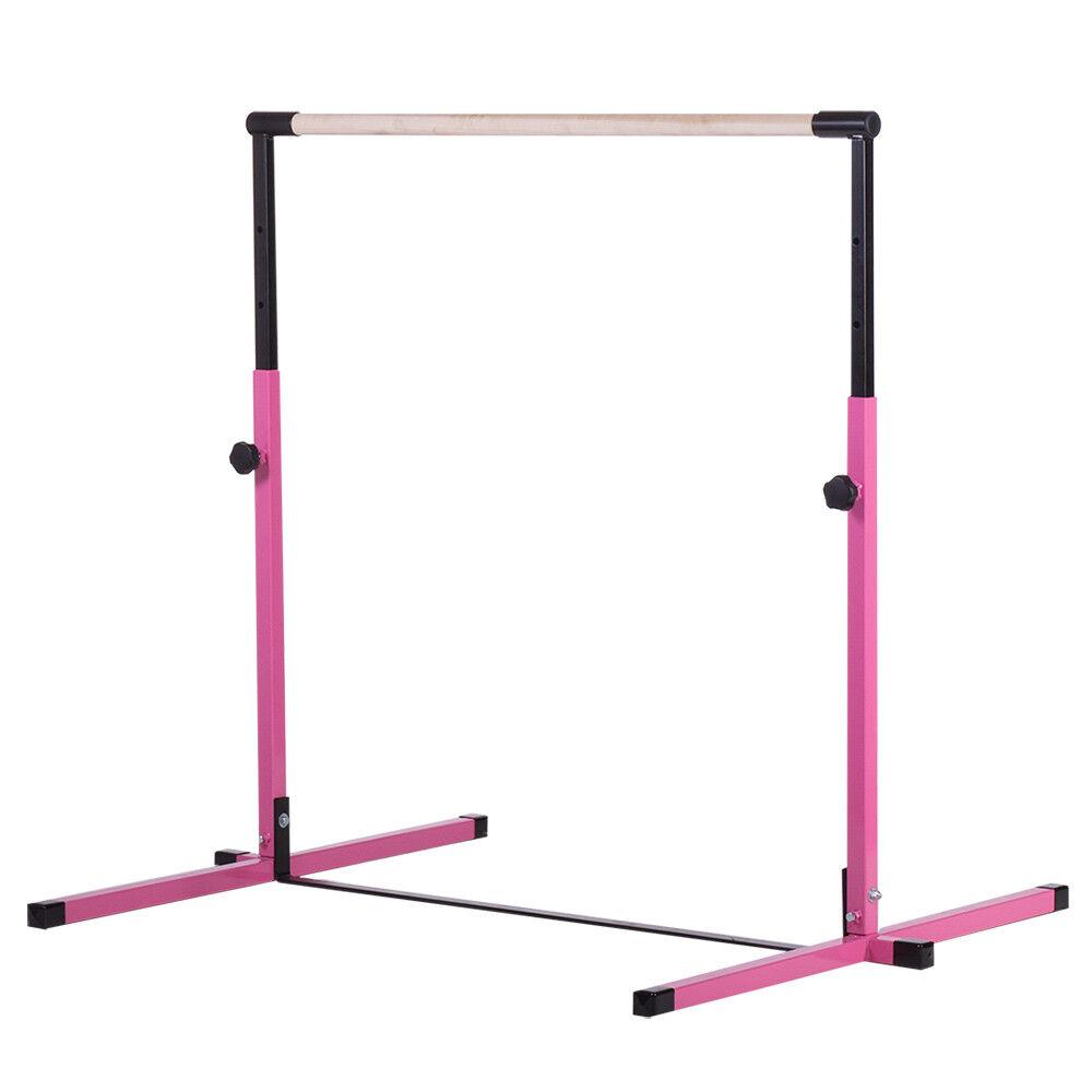 Pink  Adjustable Horizontal Training Bar Gymnastics Junior Kip Bar  shop online today