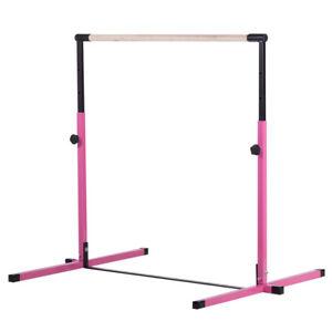Pink-Adjustable-Horizontal-Training-Bar-Gymnastics-Junior-Kip-Bar